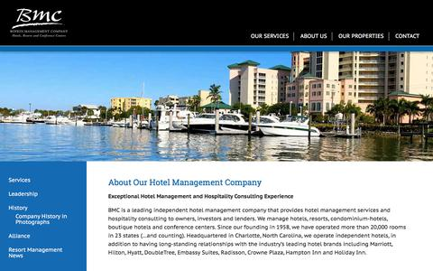 Screenshot of About Page boykin.com - About Our Hotel Management Company | Boykin Management - captured Sept. 22, 2018