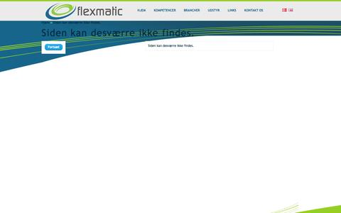 Screenshot of Maps & Directions Page flexmatic.dk captured Oct. 6, 2014
