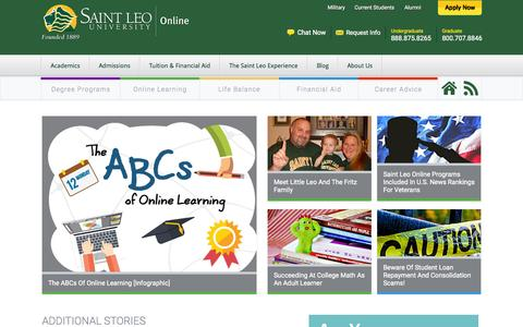 Screenshot of Blog saintleo.edu - Blog - captured Aug. 31, 2015