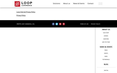 Screenshot of Privacy Page loopcommerce.com - Loop Commerce - Privacy - captured May 1, 2019