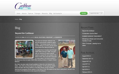Screenshot of Blog missioncma.com - Blog | Caribbean Ministries Association - captured Sept. 27, 2018