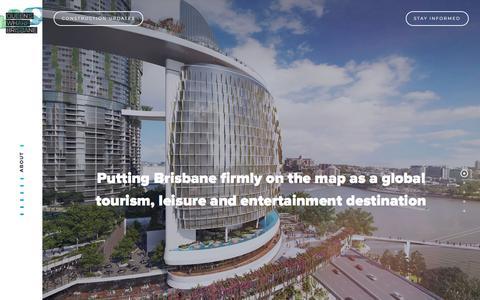 Screenshot of About Page queenswharfbrisbane.com.au - About - Queen's Wharf Brisbane - captured Dec. 21, 2017