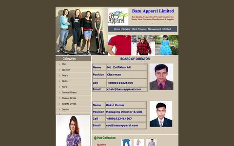 Screenshot of Team Page bazuapparel.com - Bazu Apparel Limited, Management - captured Oct. 5, 2014
