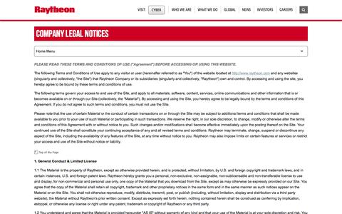 Raytheon: Company Legal Notices