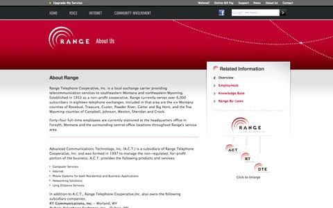 Screenshot of About Page rangeweb.net - Range - You're Connected - captured Oct. 7, 2014