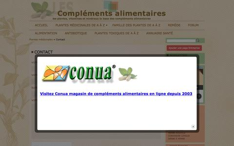 Screenshot of Contact Page complements-alimentaires.co - Contact - Compléments alimentaires - captured July 14, 2017