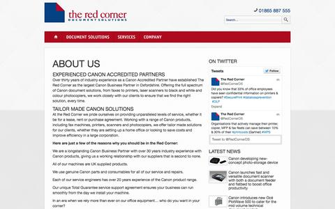 Screenshot of About Page theredcorner.co.uk - About Us | The Red Corner - captured Oct. 9, 2014