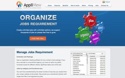 Screenshot of Jobs Page appliview.com - E-recruitment - Agency Software, Recruitment System, Recruitment Solution - captured Dec. 25, 2015