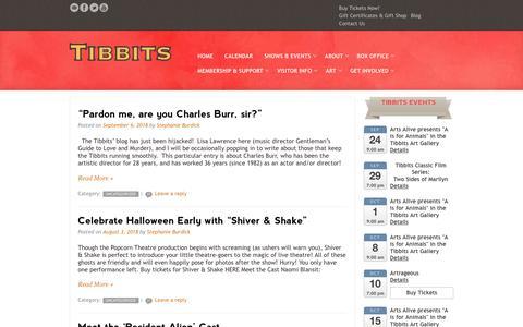 Screenshot of Blog tibbits.org - Blog - Tibbits - captured Sept. 24, 2018