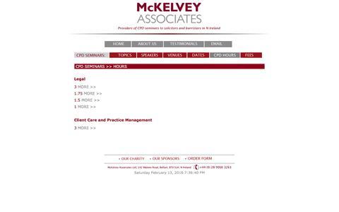 Screenshot of Hours Page mckelveyassociates.co.uk - Mckelvey Associates - Hours - captured Feb. 12, 2016