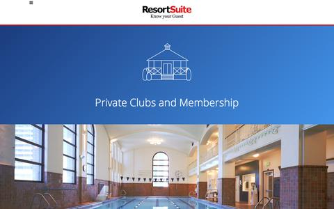 Private Members Club Software Solution | ResortSuite