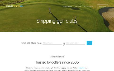 Shipping Golf Clubs - Trusted Worldwide Since 2005 - Luggage Forward®