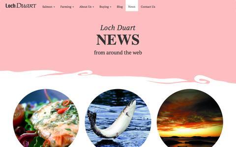 Screenshot of Press Page lochduart.com - Loch Duart - captured Jan. 31, 2016