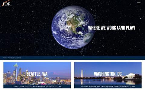 Screenshot of Locations Page prrbiz.com - Locations | PRR Biz - captured Oct. 12, 2016
