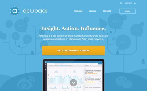 Screenshot of Pricing Page actsocial.com - ActSocial - Social Marketing Management Platform - captured Sept. 22, 2015