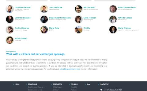 Screenshot of About Page Team Page leapcommerce.com - Leap Commerce - captured July 19, 2014