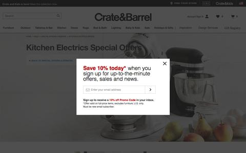 Kitchen Electrics Offers   Crate and Barrel