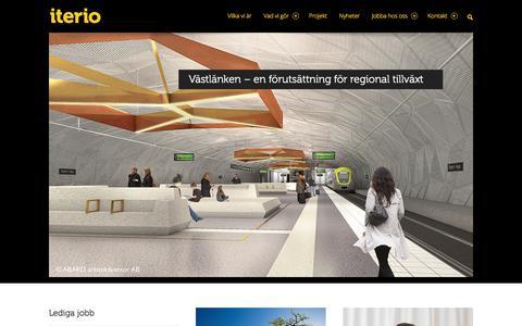 Screenshot of Home Page iterio.se - Iterio - konsulter inom samhällsplanering och samhällsbyggnad - captured Sept. 19, 2018