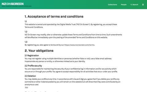 Screenshot of Terms Page nzonscreen.com - NZ On Screen - captured Sept. 5, 2016