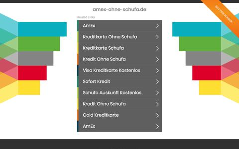 Screenshot of Home Page amex-ohne-schufa.de - amex-ohne-schufa.de - captured Jan. 2, 2018