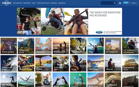 Screenshot of Home Page lonelyplanet.com - Lonely Planet - captured Oct. 18, 2015