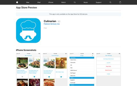 Culinarian on the AppStore