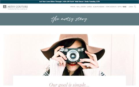 Screenshot of About Page artsycouture.com - About Us - captured Feb. 16, 2020