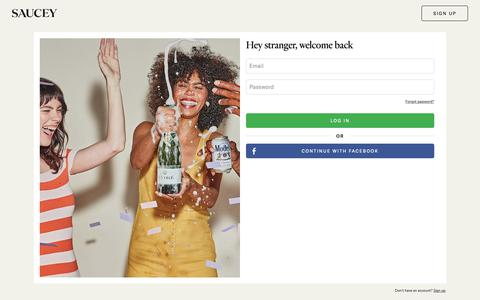 Screenshot of Login Page saucey.com - Saucey: Free 30-minute Alcohol Delivery - captured June 22, 2019