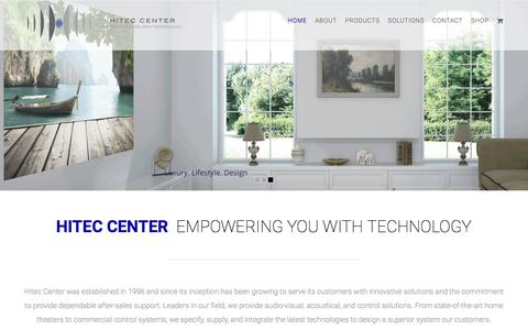 Screenshot of Home Page hitecoman.com - Hitec Center – Empowering You With Technology - captured Aug. 8, 2017