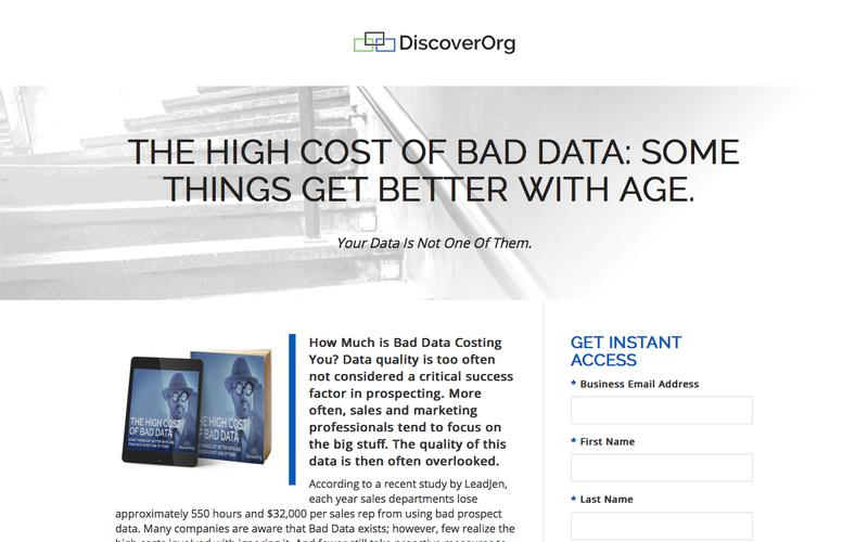 High Cost of Bad Data: Some Things Get Better With Age | DiscoverOrg