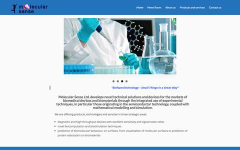 Screenshot of Home Page molecularsense.com - Molecular Sense – Molecular Sense - captured Dec. 22, 2016