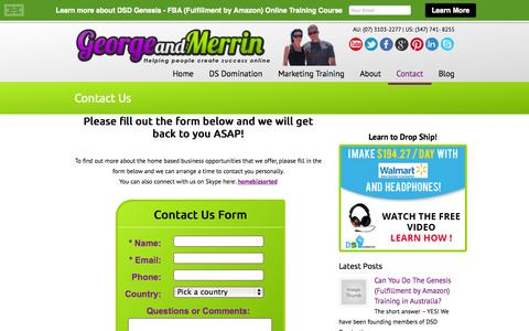 Screenshot of Contact Page georgeandmerrin.com - Contact Us George & Merrin Robinson | George & Merrin Robinson - captured Oct. 6, 2014