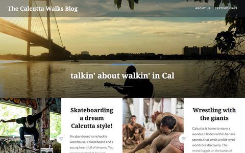 Screenshot of Blog wordpress.com - The Calcutta Walks Blog – talkin' about walkin' in Cal - captured July 15, 2018