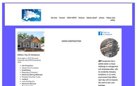 Screenshot of Home Page bilingualsafetytraining.com - BSeT - HOME - captured Sept. 30, 2014