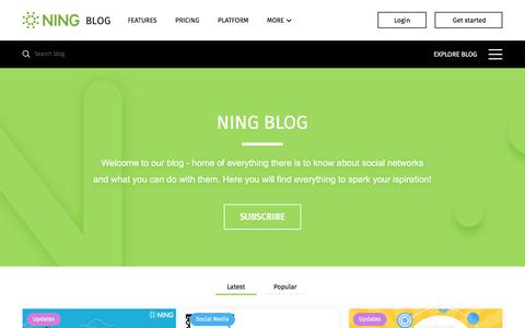 Screenshot of Blog ning.com - Ning Blog | Social Media & Community Building Insights - captured Aug. 2, 2017