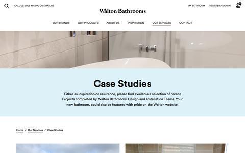 Screenshot of Case Studies Page waltonbathrooms.co.uk - Bathroom design & build casestudies    Luxury Bathrooms   Walton Bathrooms - captured Sept. 21, 2018