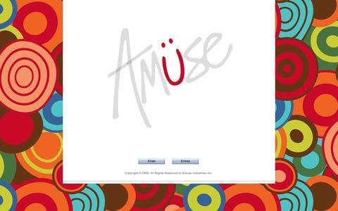 Screenshot of Home Page amusedesign.ca - AmuseDesign.ca - captured Oct. 4, 2014
