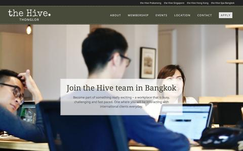 Screenshot of Signup Page thehive.co.th - Join | the Hive Coworking Space in Bangkok | the Hive Thonglor - captured Aug. 30, 2016