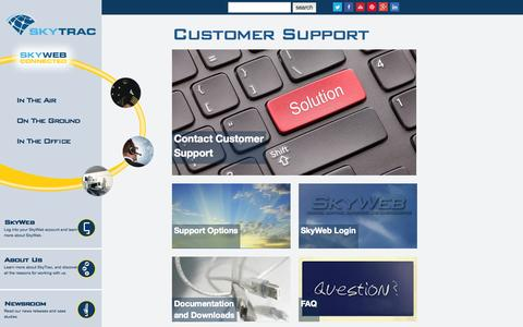 Screenshot of Support Page skytrac.ca - SkyTrac Systems | Customer Support - captured Oct. 4, 2014