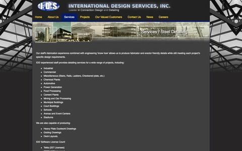 Screenshot of Services Page ids-inc.net - IDS - International Design Services, Inc. - captured Jan. 23, 2016