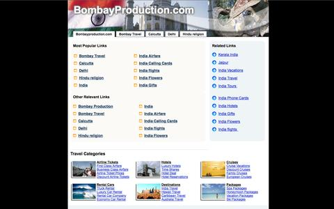 Screenshot of Home Page bombayproduction.com captured Oct. 5, 2014