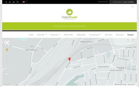 Screenshot of Contact Page greenthumb.nl - Contact met GreenThumbGreenthumb - captured Oct. 3, 2014