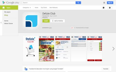 Screenshot of Android App Page google.com - Delizie Club - Android Apps on Google Play - captured Oct. 23, 2014