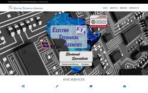 Screenshot of Home Page etakzn.com - ETA | - captured Jan. 23, 2015