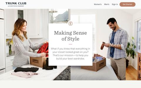 Screenshot of Locations Page trunkclub.com - Trunk Club - Personal Stylists for Men and Women - captured Dec. 6, 2017