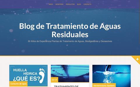 Screenshot of Blog spartanmexico.com.mx - Blog de Tratamiento de Aguas Residuales - 30 Años de Experiencia Plantas de Tratamiento de Aguas, Biodigestores y Dezasolves - captured Sept. 30, 2018
