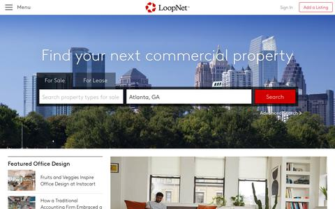 Screenshot of Home Page loopnet.com - LoopNet: Commercial Real Estate For Sale and Lease - captured Aug. 15, 2019