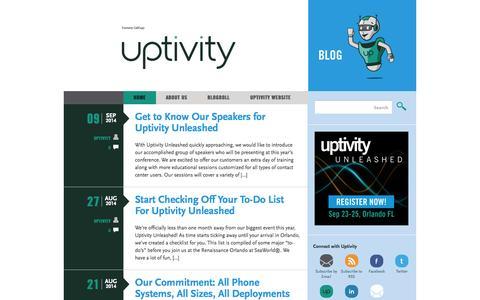 Screenshot of Blog uptivity.com - Uptivity Blog - captured Sept. 17, 2014