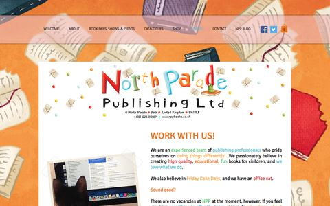 Screenshot of Jobs Page nppbooks.co.uk - North Parade Publishing - captured Oct. 26, 2017