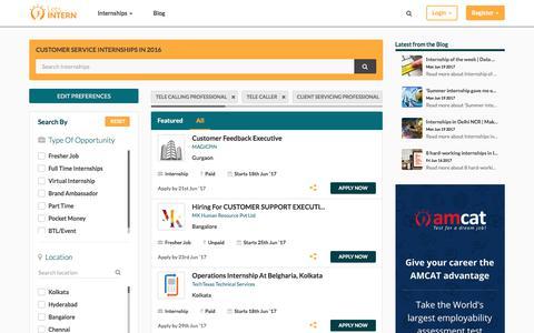 Screenshot of Support Page letsintern.com - Customer service  Internships in India | Customer service Internship 2016 | Letsintern - captured June 20, 2017